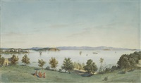 view of the princes' islands from the bay of fenerbahce by salvatore valeri