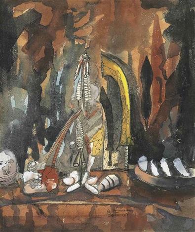 still life benin by ben enwonwu