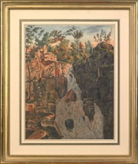 ravine in new jersey, above point pleasant by augustus kollner