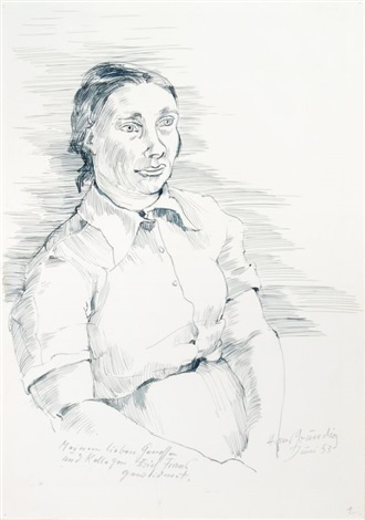 frauenportrait by hans grundig