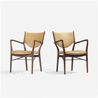 armchairs model nv-46, pair by finn juhl