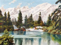 lac de montagne by jacques charles fourcy