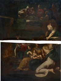 la naissance de la vierge (in 2 parts) by giovanni andrea (il mastelletta) donducci