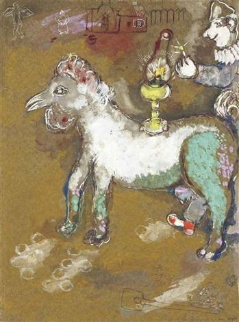 les clowns et la lampe à pétrole cirque vollard by marc chagall