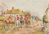 the meet; setting off (illustrated); in full cry; and gone to ground (4 works) by h. murray