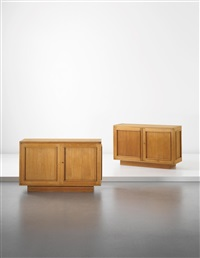 sideboards, for a private commission, paris (pair) by jean royère