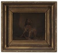 terrier, in an interior by martin theodore ward