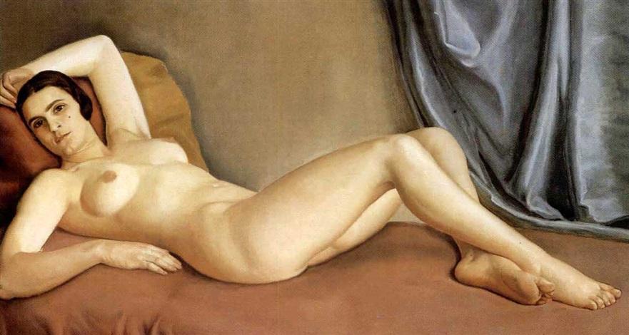 a reclining nude by benjamin coria