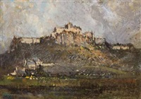 a view of edinburgh castle by robert gwelo goodman