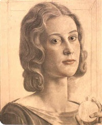a portrait of charlotte b. ogle by viktor hammer