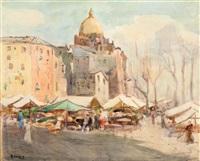 piazza con mercato by arturo e. de luca