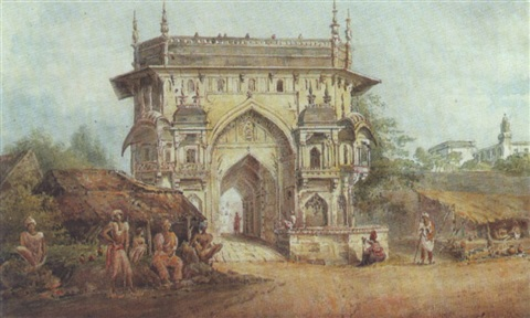 views of ghazipur and lucknow: the gateway to the chalis satun by edward hawker locker