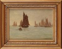 a fishing fleet off the yorkshire coast by joseph richard bagshaw