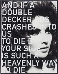 liz taylor (and if a double decker bus crashes into us) by russell young