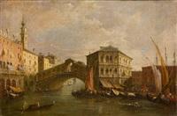 der canal grande mit der rialtobrücke by francesco guardi