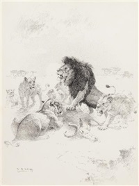 lion and lioness by william robinson leigh