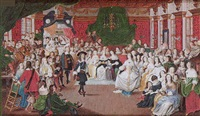 charles ii and elizabeth, princess palatine dancing at the hague by george perfect harding