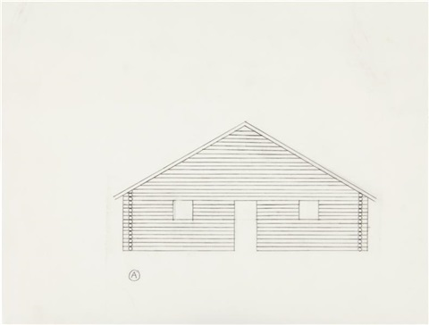 untitled preparatory drawing for log cabin by cady noland