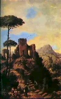 pelerins dans la montagne by joaquin becquer