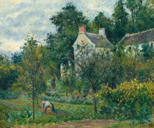la maison rondest et son jardin à lhermitage pontoise by camille pissarro