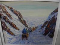 esquimaux en route by fleurimond constantineau