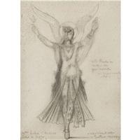 premiere danseuse. mademoiselle subra. ballet de sapho by gustave moreau