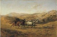 butteri e bovini al pascolo by charles h. poingdestre