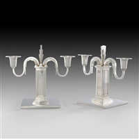 candlesticks (pair) by erik fleming