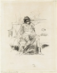 the draped figure, seated by james abbott mcneill whistler