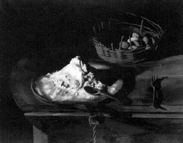 nature morte au sac de farine by pierre jouffroy