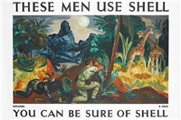 these men use shell, explorers, you can be sure of shell (poster by b. craig) by posters: advertising - shell oil