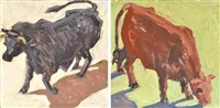 bull 2; bull 3 (2 works) by lucy culliton