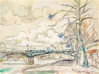 les quais, paris by paul signac