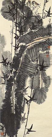 芭蕉小鸟 by cui ruzhuo