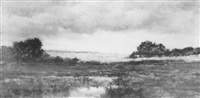 landscape with clouds and shadows by arthur turnbull hill
