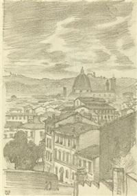 florenz (+ pencil sketch, verso) by ludwig von hofmann