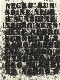 study for negro sunshine # 7 by glenn ligon