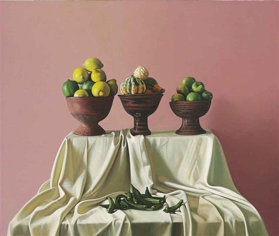 vasijas con frutas by peter von artens