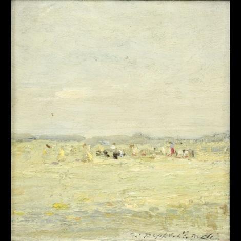 paesaggio con figure by beppe ciardi