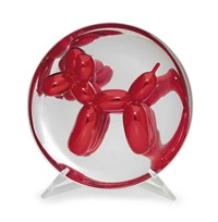 ballon dog (red) by jeff koons