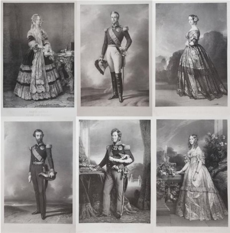 la famille dorléans by léon noël set of 9 by franz xaver winterhalter