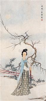 凭栏清赏图 by bu xiaohuai