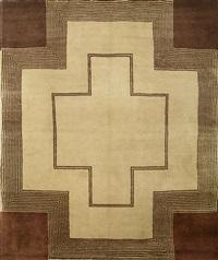 la bilingue ou tapis à croix by sonia delaunay-terk