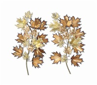 leaf sculptures (set of 2) by curtis jere