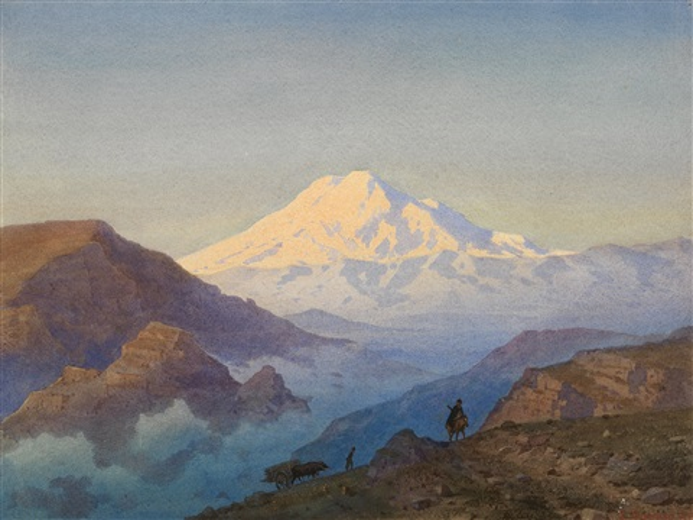 mountainous landscape by luigi premazzi