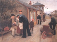 on the platform by walter cyril wallis