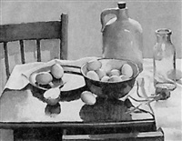 still life with eggs by frank nemeth