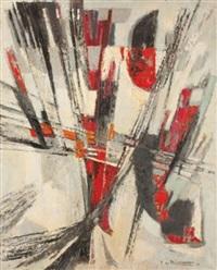 composition en rouge by pierre de berroeta