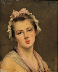 head of a young woman by fanny laurent fleury