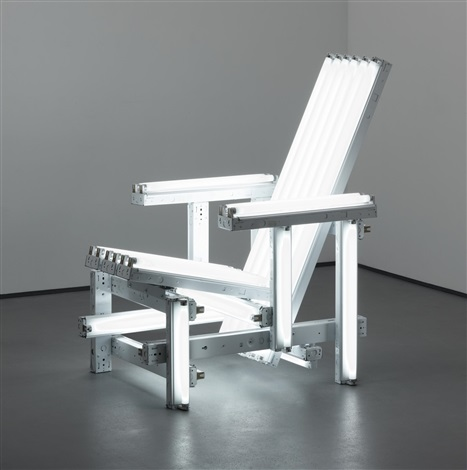 white electric chair by iván navarro